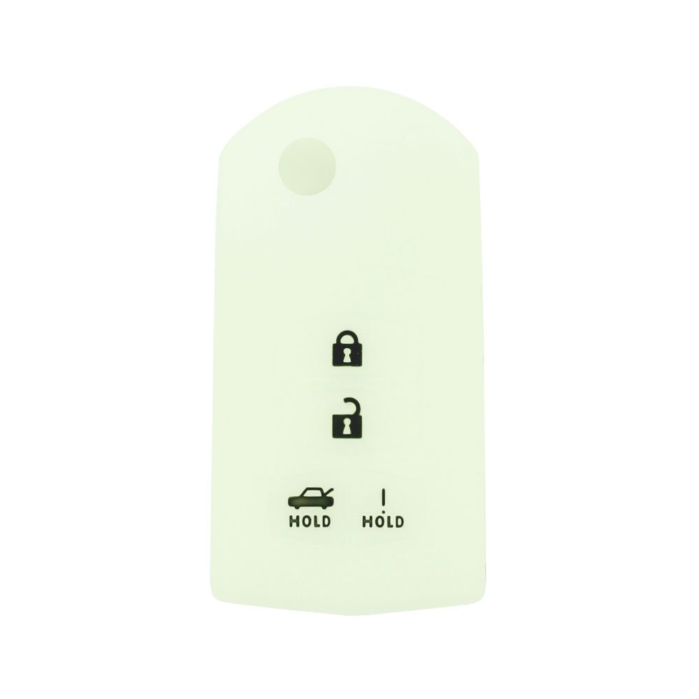 SEGADEN Silicone Cover Protector Case Skin Jacket fit for MAZDA 4 Button Flip Remote Key Fob CV2534 Purple