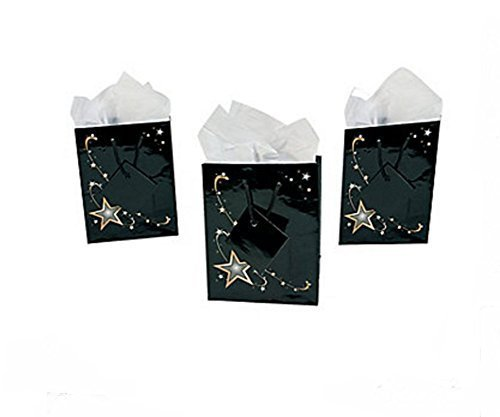 Small Gold Star Gift Bags (2 Dozen) ()