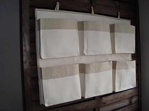 Caddy unbleached organizer, eco friendly organizer, canvas crib storage, linen nursery organizer, girl boy storage bag, nursery accessory, hanging storage
