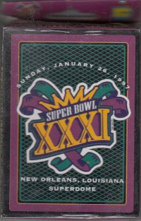 (Super Bowl XXXI New Orleans Louisiana Superdome Sunday January 26, 1997 Playing Cards)