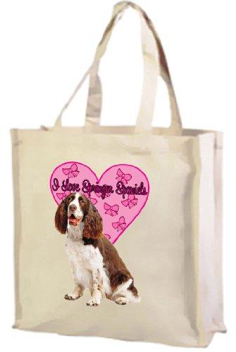 Springer Spaniel Springer Cream Bag Cotton I Shopping Love Spaniels xOwSwqBF