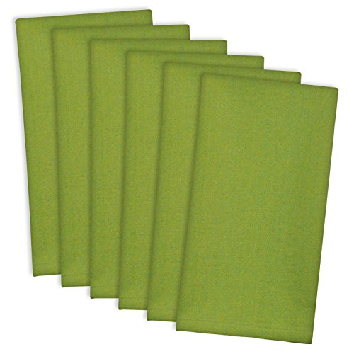 Basic Tablecloth (DII 100% Cotton Cloth Napkins, Oversized 20x20 Dinner Napkins, For Basic Everyday Use, Banquets, Weddings, Events, or Family Gatherings - Set of 6, Cactus)
