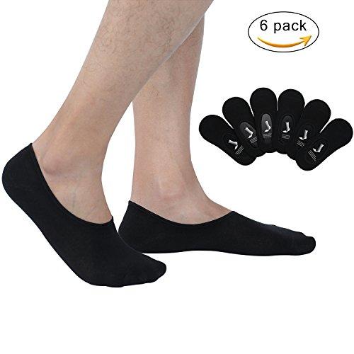 Joulli Mens No Show Socks Cushion Anti-slid Athletic Casual Cotton Low Cut Sock 6 Pack - Socks Show Cushion