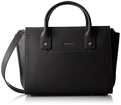 Furla Women's Linda Medium Carryall Bag, Onyx, One Size