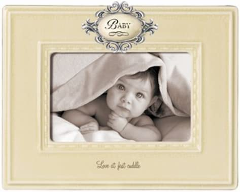 Grasslands Road Everythings Relative Baby Frame Antique White Ceramic 9-1//4 Inches by 7-1//2 Inches