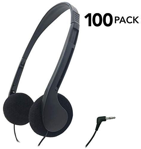 SmithOutlet 100 Pack Low Cost Classroom/Library Headphones (Best Headphones For 100)