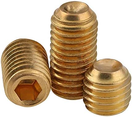 Dimensioni : M10, Lunghezza : 10mm BOJI Set Screw Brass Screw Copper Headless Hexagon