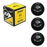 Pelotas de Squash DUNLOP Deportes Pro Doble Amarillo Dot 3-Pack