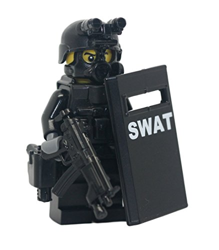 Modern Brick Warfare SWAT Police Officer Pointman Custom Minifigure
