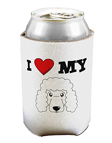 (TooLoud I Heart My - Cute Poodle Dog - White Can/Bottle Insulator Cooler - 2 Pack)