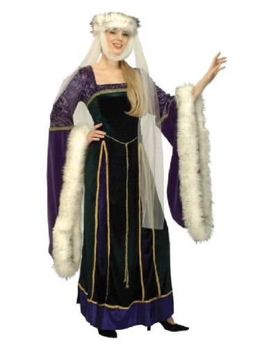 [Forum Designer Deluxe Medieval Noble Lady Costume, Multi, Extra Large] (Bag Lady Halloween Costume)