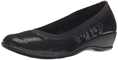 Hush Puppies Soft Black Rogan Flat Lizard by Style Women's qxTtB7T