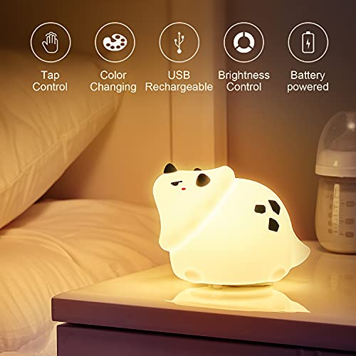 Dinosaur Night Light,Cute Night Light for Boys Kids Toddler Baby Children,Nursery Silicone Squishy Soft Battery Powered Color Changing Animal Boys Dino Lamp for Bedroom,Dinosaur Boys Birthday Gifts