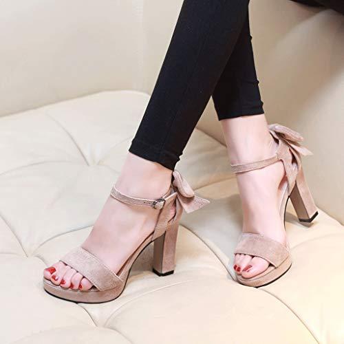 Zapatos Albaricoque Banquete Tamaño Punta Albaricoque Plataforma Mujer Verano De Sandalias Tacones Grueso Vestido color 38 Color Tacón Arco Impermeable Altos Elegante Abierta gaqwHCxF
