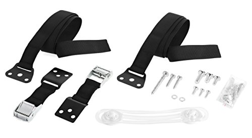 Kids Protectors | TV Furniture Straps - Earthquake Kit with Anchors Baby Proof Srong Nylon Strap And Metal Cam Buckle All Mounting Hardware Included (2 Pack)+ BONUS Safety Lock