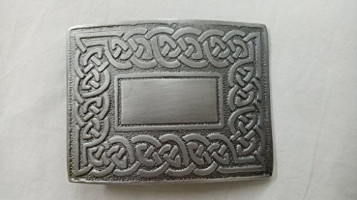 Celtic Link Kilt Belt Buckle Antique
