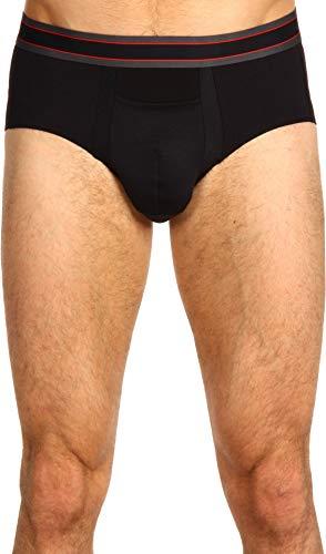 (SPANX for Men Men's Cotton Comfort Brief, Black XL (42-44))
