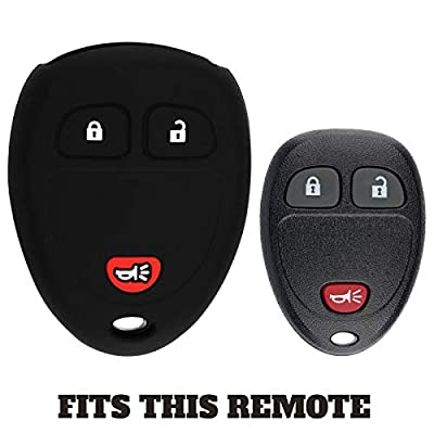 KeyGuardz Keyless Entry Remote Car Key Fob Outer Shell Cover Soft Rubber Protective Case for Chevy GMC 15913420: Automotive