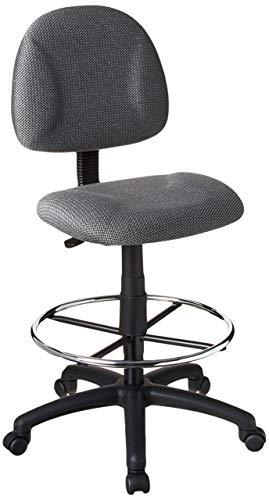 Boss Office Products Ergonomic Works Drafting Chair without Arms in Grey