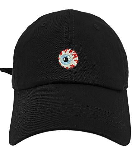 TheMonsta Eye Ball Style Dad Hat Washed Cotton Polo Baseball Cap (Black)