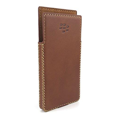 Otis BlackBerry Key2 Handmade Leather Case with Built-in Magnet (Brown)