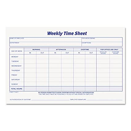 amazon com top30071 weekly time sheets record books office