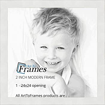 ArtToFrames 24x24 Inch White Picture Frame, This 2