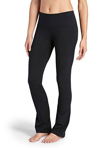 Jockey Women's Activewear Cotton Stretch Slim Bootleg Pant, Black, -