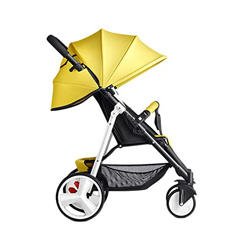 CHEERALL Baby Umbrella Stroller Pushchair Lightweight Folding Simple Mini Summer Children's Buggy Portable Pram for Newborn from Birth to 3 Years Old,A