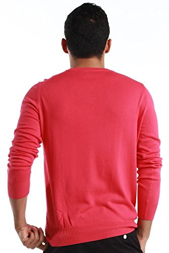"""Fred Perry Green Label Men's Sweatshirt Medium Pink V-Neck Sweatshirt with Blue """"laurel"""" by Fred Perry (Image #3)"""