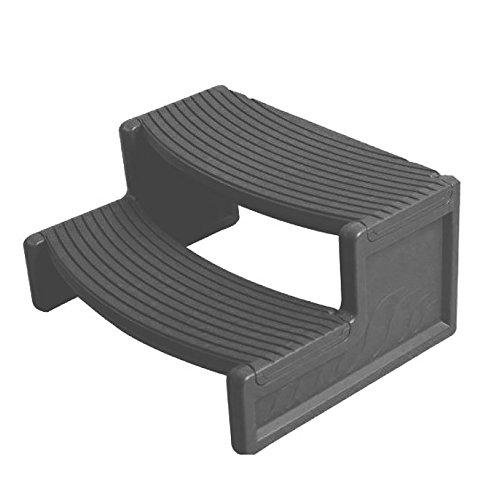 Handi Tub (Confer Plastics Resin Multi Purpose Spa Hot Tub Handi-Step Steps, Gray | HS2-LBG)