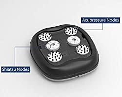 Zyllion Shiatsu Foot Massager Machine - Kneading, Acupuncture, and Compression Heated Feet Massage for Neuropathy, Plantar Fasciitis, Chronic Pain, Tired Muscles