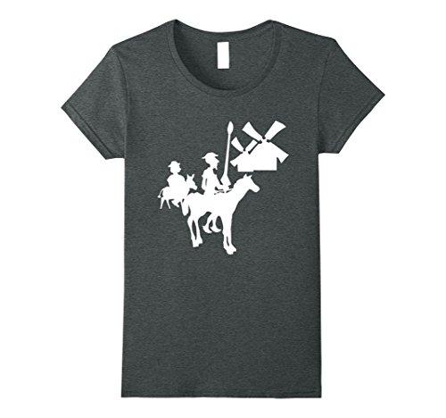 Womens Don Quixote T-Shirt Small Dark Heather