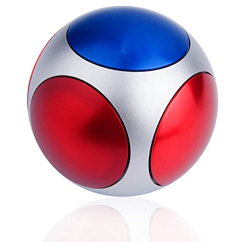 MAXAH Ball Sphere Football Hand Fidget Spinner High Speed Alloy Gyroscope Focus Toy Stress Reducer Relieve Anxiety and Boredom
