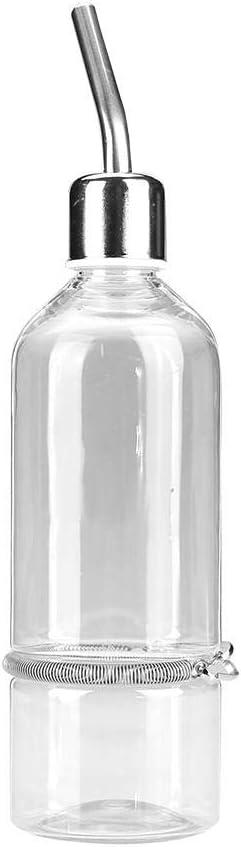 TOPINCN Alimentador de Agua del Loro Fuente de Agua Potable automática Boquilla de Acero Inoxidable Pezón Pájaro de Agua para Mascotas(L)