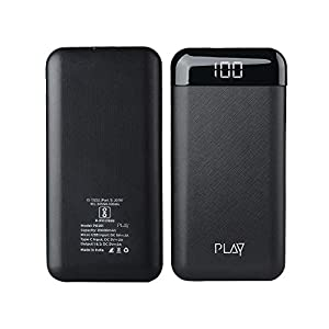 World Of PLAY 20000mAh Power Bank PBA20 (Black) with Li-Polymer Batteries and Fast Charging, Compact Size for…