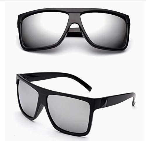 Hombre de tamaño de So Gran Grande conducción Mujer de de Pareja Gafas UV400 de Estilo Gafas de HD Sol Marco de para Ultravioleta Unisex Gafas Retro con para Blanco Sol Sol White Cool Black 6WUnT