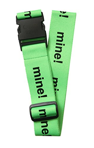 "ORB Travel Premium Designer Luggage Strap 2""x72""-LS215-LB-Mine!-Lime/Black"