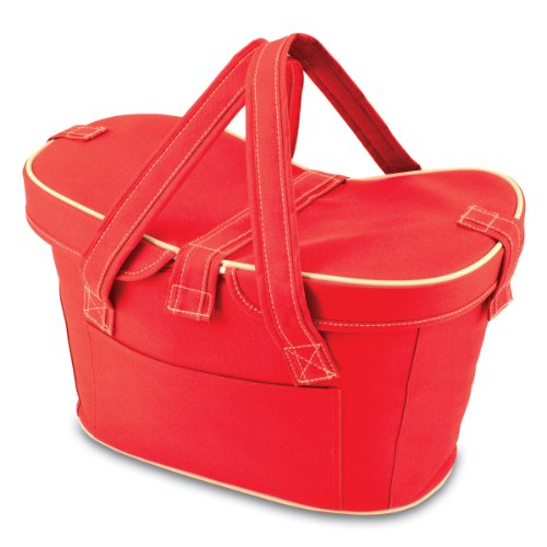 Picnic Time Mercado Insulated Cooler Basket, Red