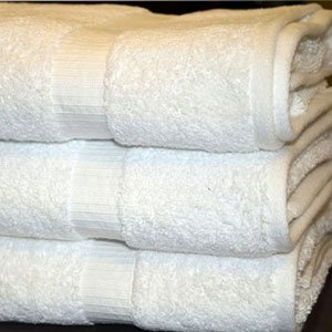 Hotel Oxford Bellezza Bath Towels 27x54 100% Ringspun Cotton Dobby Border & Dobby Hemmed White 17 Lb/dz