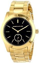 Kenneth Jay Lane Women's KJLANE-2309B Black Dial Gold Ion-Plated Stainless Steel Watch