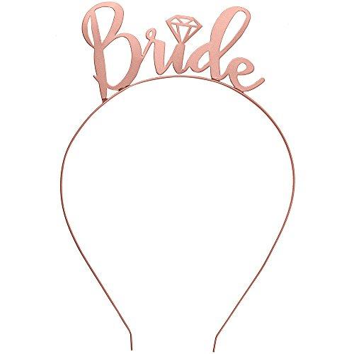 Bride Headband Bachelorette Party Rose Gold – Bridal Shower Tiara Headband HdBd(Bride)RSG