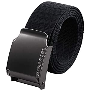 moonsix Nylon Web Belts for Men,Solid Color Military Style 1.5″ Wide Flip Top Belt