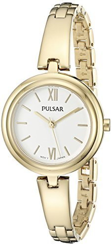 Pulsar Women's PG2036X Every Day Value Analog Display Japanese Quartz Gold (Pulsar Gold Wrist Watch)