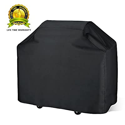 Joaruy Grill Cover 58 Inch,Heavy Duty 210D Water Proof Fits Most Brands of Grill,BBQ Barbecue Smoker/Grill Cover For Weber,Brinkmann,Char Broil etc.Rip-Proof,UV & Water-Resistant with Storage Bag