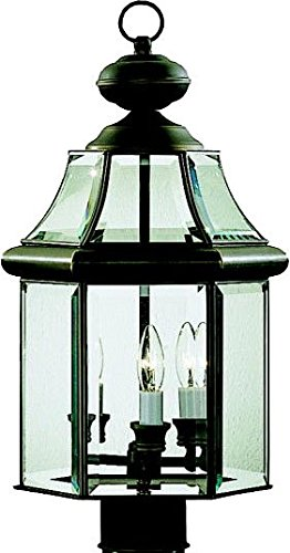 Kichler 9985OZ Embassy Row Outdoor Post Mount 3-Light, Olde Bronze