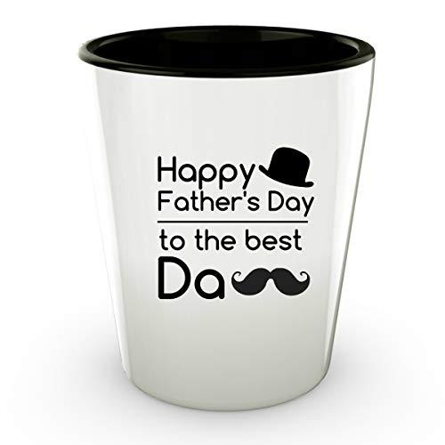 Dad Shot Glass Fathers Day Best Chechen Da Ceramic Whiskey -
