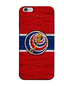 ColorKing Football Costa Rica 11 Red shell case cover for Apple iphone 6 Plus / 6s Plus