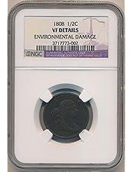 1808 P Draped Half Cent VF Details NGC