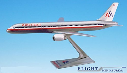 American (70-13) 757-200 Airplane Miniature Model Snap Fit 1:200 Part#ABO-75720H-030 (200 Snap Fit Model)